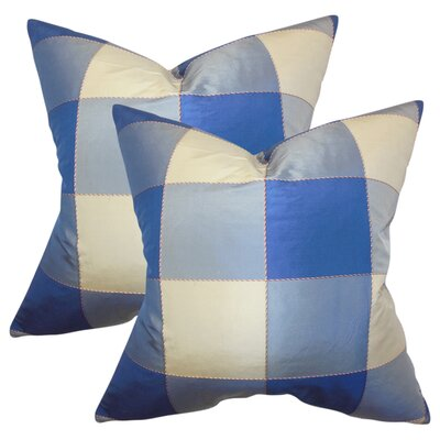 Dixit Plaid Silk Throw Pillow
