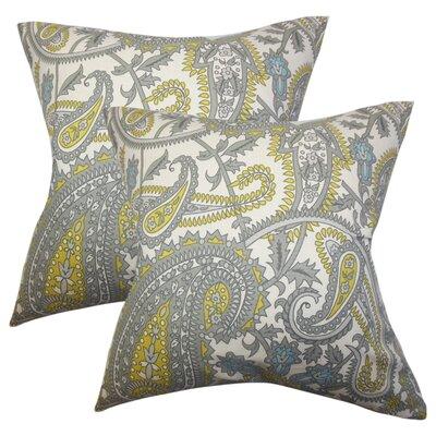 Zenobius Paisley Cotton Throw Pillow
