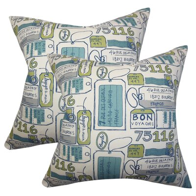 Withers Typography Cotton Throw Pillow