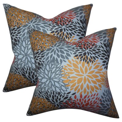 Luara Floral Cotton Throw Pillow
