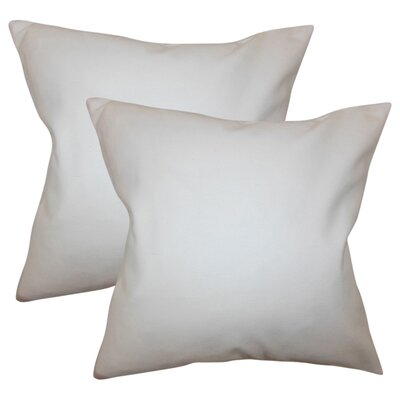 Chevy Solid Cotton Throw Pillow Color: White