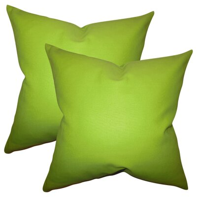 Desma Solid Cotton Throw Pillow Color: Chartreuse