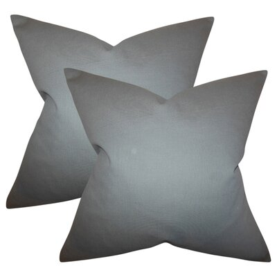 Desma Solid Cotton Throw Pillow Color: Gray