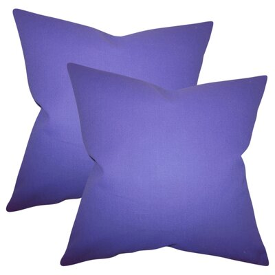 Desma Solid Cotton Throw Pillow Color: Purple