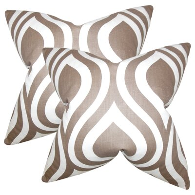 Aiello Geometric Cotton Throw Pillow Color: Brown