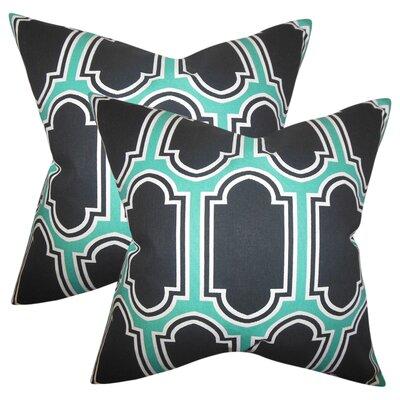 Boniakowski Geometric Cotton Throw Pillow Color: Jade