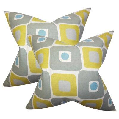 Hana Geometric Cotton Throw Pillow