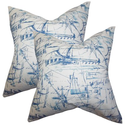 Marcoux Coastal Cotton Throw Pillow