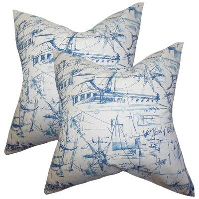 Marcoux Coastal Cotton Throw Pillow