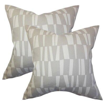 Jocelynn Geometric Cotton Throw Pillow
