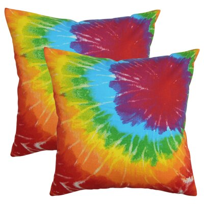 Hesperia Tie Dye Cotton Throw Pillow