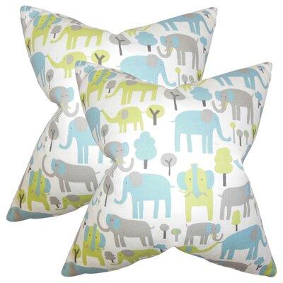 Baynham Animal Print Cotton Throw Pillow