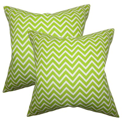Creason Zigzag Cotton Throw Pillow Color: Chartreuse