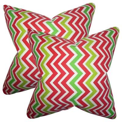 Bouck Zigzag Cotton Throw Pillow Color: Pink