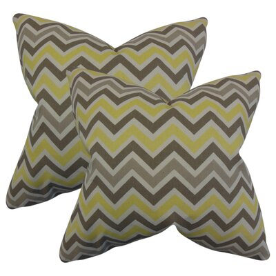 Bouck Zigzag Cotton Throw Pillow Color: Yellow