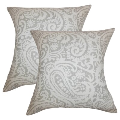 Hudepohl Paisley Throw Pillow Color: Gray
