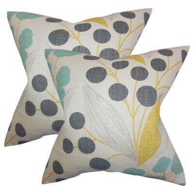 Berkhamstead Floral Linen Throw Pillow Color: Yellow