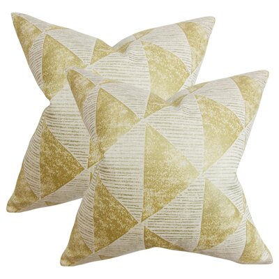 Wingert Geometric Cotton Throw Pillow