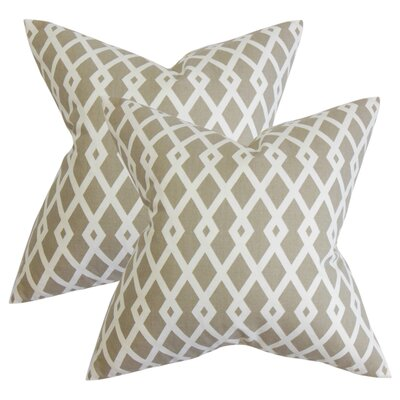 Arbutus Geometric Cotton Throw Pillow Color: Tan