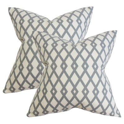 Arbutus Geometric Cotton Throw Pillow Color: Gray