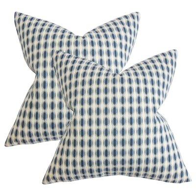 Janiya Geometric Cotton Throw Pillow