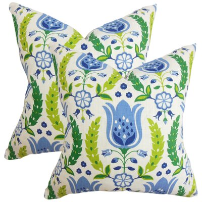 Tirrell Floral Cotton Throw Pillow