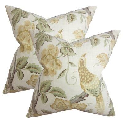 Filippa Modern Floral Cotton Throw Pillow