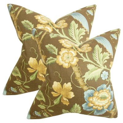 Filippa Floral Cotton Throw Pillow