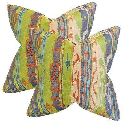 Bernie Ikat Cotton Throw Pillow