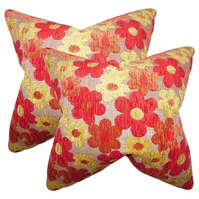 Sturm Floral Linen Throw Pillow