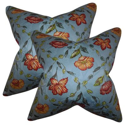 Giulia Floral Silk Throw Pillow