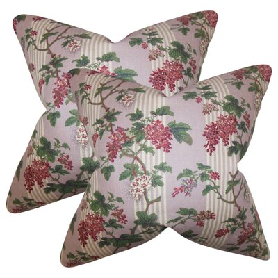 Port Pirie Floral Linen Throw Pillow