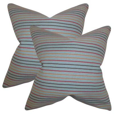 Duncombe Stripes Cotton Throw Pillow