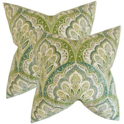 Whittaker Paisley Cotton Throw Pillow Color: Peridot