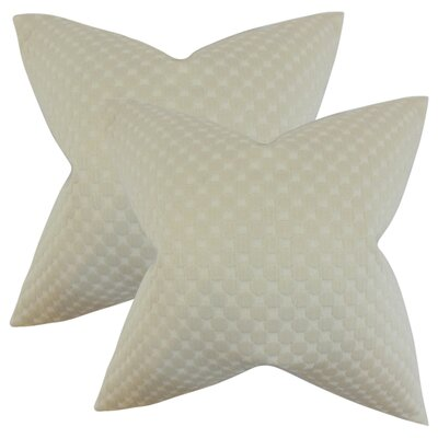 Plyler Solid Cotton Throw Pillow Color: White