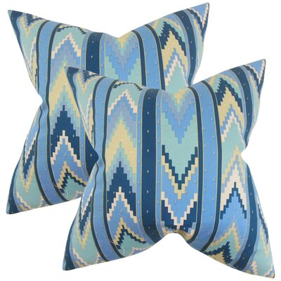 Procopio Geometric Cotton Throw Pillow