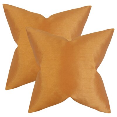 Lindner Solid Throw Pillow Color: Orange