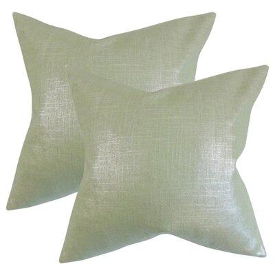 Singh Solid Linen Throw Pillow Color: Aqua