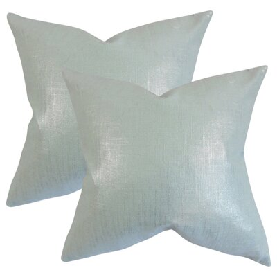Singh Solid Linen Throw Pillow Color: Baby Blue