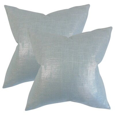 Singh Solid Linen Throw Pillow Color: Light Blue