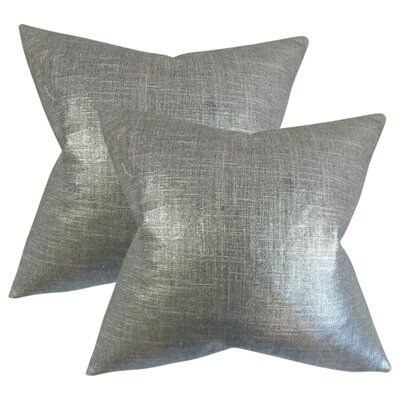 Singh Solid Linen Throw Pillow Color: Coal