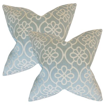 Adalric Geometric Cotton Throw Pillow Color: Sea Foam