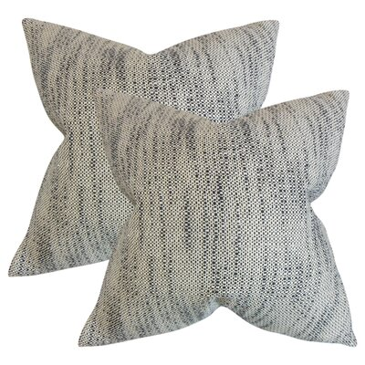 Lafitte Stripes Cotton Throw Pillow Color: Ebony