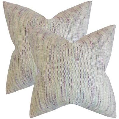 Lafitte Stripes Cotton Throw Pillow Color: Plum