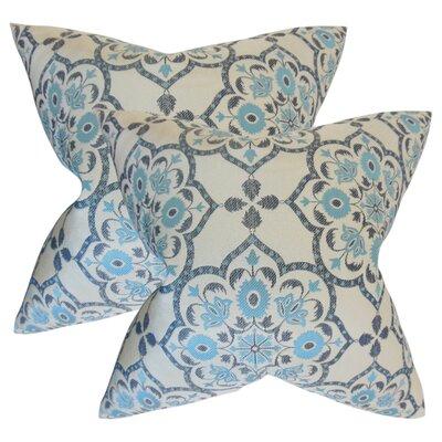 Armino Geometric Throw Pillow Color: Blue