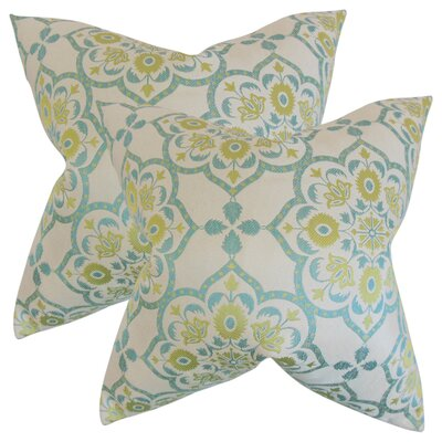 Armino Geometric Throw Pillow Color: Caribbean