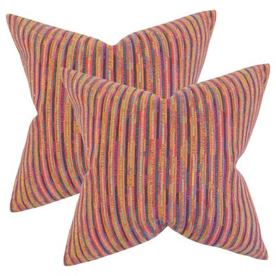White City Stripes Throw Pillow Color: Pink