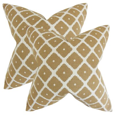 Strayhorn Geometric Cotton Throw Pillow Color: Copper