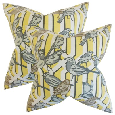 Largay Cotton Throw Pillow Color: Yellow