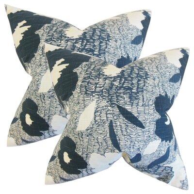 Zara Cotton Throw Pillow Color: Blue
